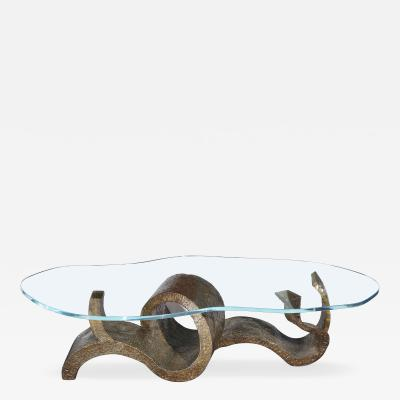 Philip Kelvin LaVerne Wave Crest Unique Studio Made Cocktail Table by Philip Kelvin LaVerne