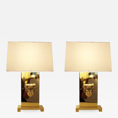 Philip Neri Philip Neri Pair of Gilt Bronze Table Lamps