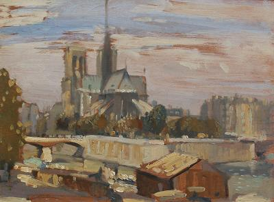 Philip Wilson Steer Notre Dame from the Left Bank