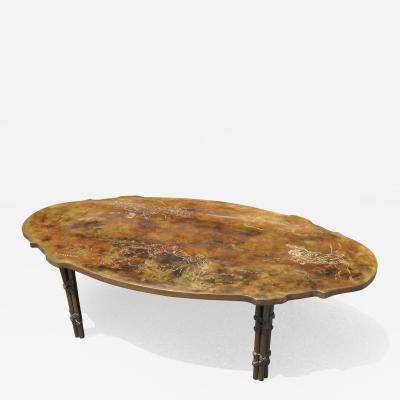 Philip and Kelvin LaVerne Bronze Coffee Table with Biblical Scenes by Philip and Kelvin LaVerne