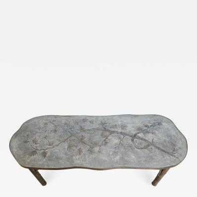 Philip and Kelvin LaVerne Free Form Coffee Table by Kelvin and Philip Laverne