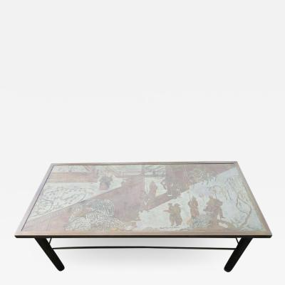 Philip and Kelvin LaVerne Gorgeous 1970s Philip and Kelvin LaVerne Chan Coffee Table Mid Century Modern