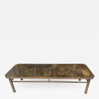 Philip and Kelvin LaVerne Laverne Coffee Table Creation of Man After Michelangelo