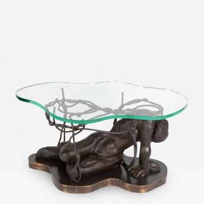Philip and Kelvin LaVerne Persephone Enslaved coffee table by Philip and Kelvin LaVerne circa 1970s