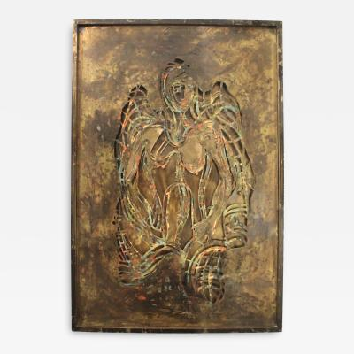 Philip and Kelvin LaVerne Philip And Kelvin LaVerne Bronze Enamel Wall Plaque