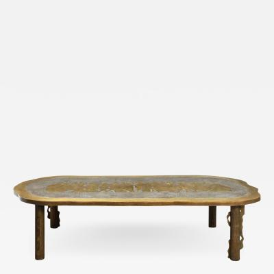 Philip and Kelvin LaVerne Philip Kelvin LaVerne Large Romanesque Coffee Table 1960s Signed