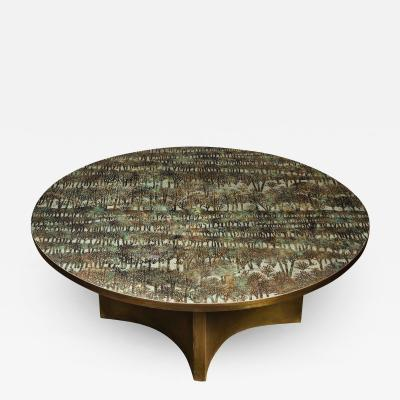 Philip and Kelvin LaVerne Philip Kelvin LaVerne Rare Eternal Forest Coffee Table 1960s