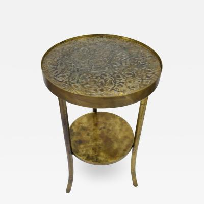 Philip and Kelvin LaVerne Philip Kelvin LaVerne Rare Etruscan Round Tea Table 1960s signed