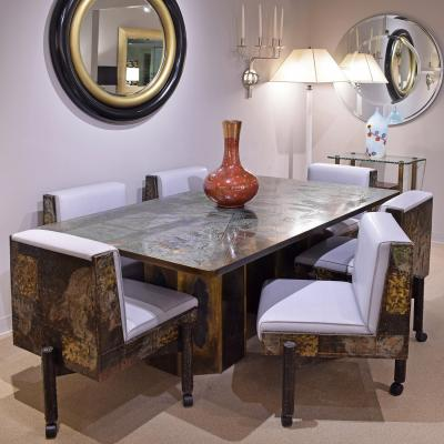 Philip and Kelvin LaVerne Philip Kelvin LaVerne Rare Exceptional Chan Dining Table 1960s Signed