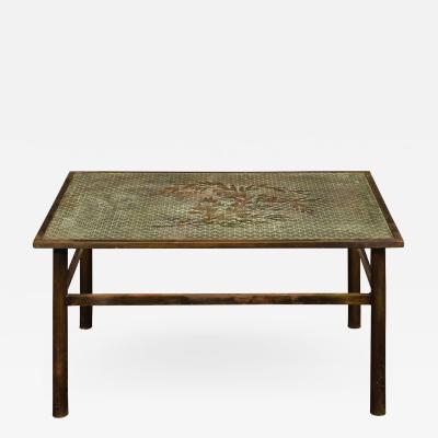 Philip and Kelvin LaVerne Philip Kelvin LaVerne Rare Kuan Su Coffee Table 1960s Signed