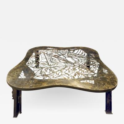 Philip and Kelvin LaVerne Philip Kelvin LaVerne Rare and Important Viola Coffee Table 1960s