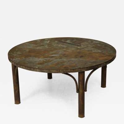 Philip and Kelvin LaVerne Philip and Kelvin LaVerne Bronze Patinated Coffee Table