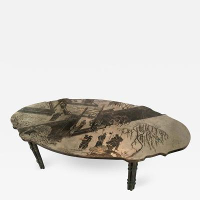 Philip and Kelvin LaVerne Philip and Kelvin LaVerne Chan Etched Bronze Coffee Table