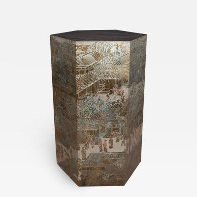 Philip and Kelvin LaVerne RARE CHAN CHINOISERIE PEDESTAL by Philip and Kelvin LaVerne