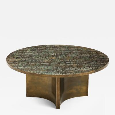 Philip and Kelvin LaVerne Rare Eternal Forest Coffee Table