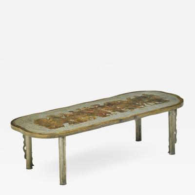 Philip and Kelvin LaVerne Rare Romanesque coffee table by Philip and Kelvin Laverne