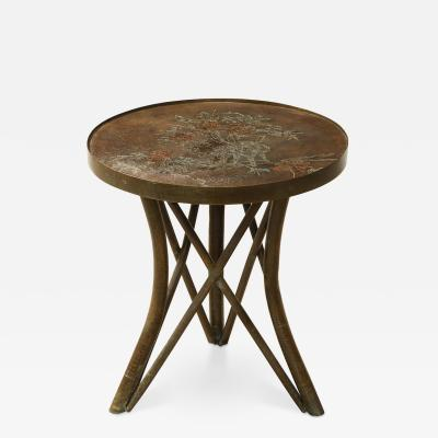 Philip and Kelvin LaVerne Shang Ti Circular Side Table by Philip Kelvin LaVerne
