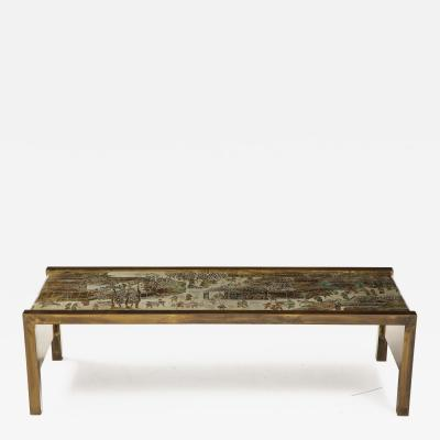 Philip and Kelvin LaVerne Spring Festival Waterfall Coffee Table in Bronze by Philip Kelvin LaVerne
