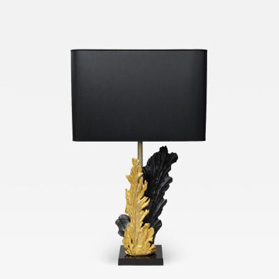 Philippe Cheverny Leaves Table Lamp by Philippe Cheverny