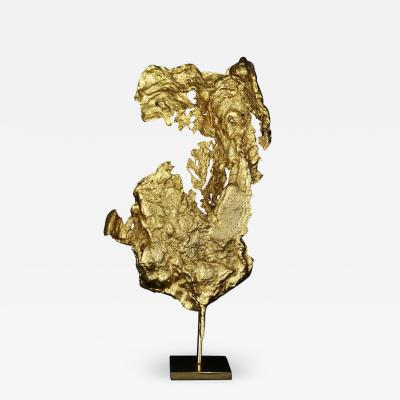 Philippe Cheverny Philippe Cheverny Gilded Abstract Sculpture Circa 1970