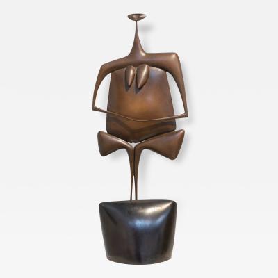 Philippe Hiquily La Kuan Yin Bronze Sculpture