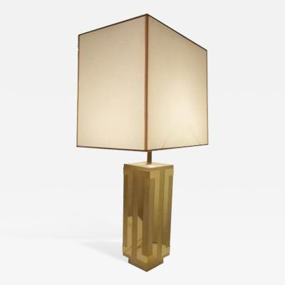 Philippe Jean A Single Mid Century Table Lamp in Brass by Philippe Jean