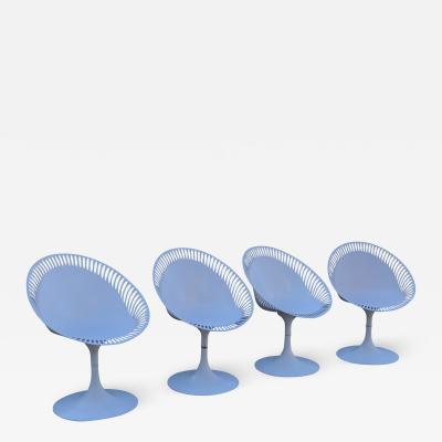 Philippe Starck Modern Perforation Futuristic Fiberglass Saarinen Starck Tulip Chairs 1970s