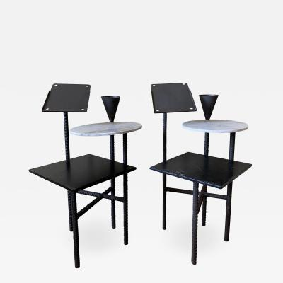 Philippe Starck Philippe Starck Paramount Hotel Side Tables pair