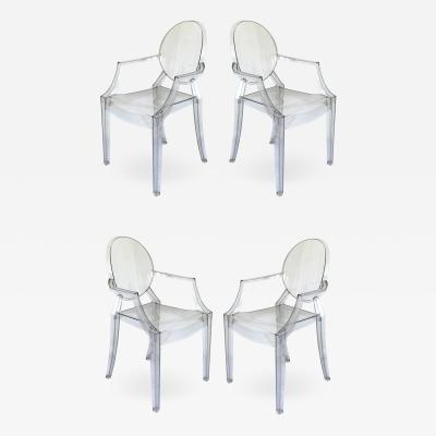 Philippe Starck Philippe Starck for Kartell Louis Ghost Chairs Set of Four