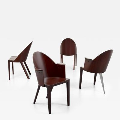 Philippe Starck Set of 4 Rare Philippe Starck Chairs from the Royalton Hotel NYC