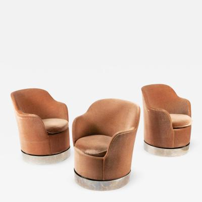 Phillip Enfield Three Phillip Enfield Swivel Chairs