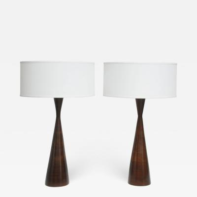 Phillip Lloyd Powell Phillip Lloyd Powell Stacked Walnut Lamps