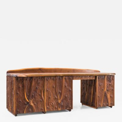 Phillip Lloyd Powell Phillip Lloyd Powell Unique Carved Desk USA