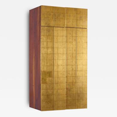 Phillip Lloyd Powell Phillip Lloyd Powell Wall Mounted Gold Leaf Cabinet