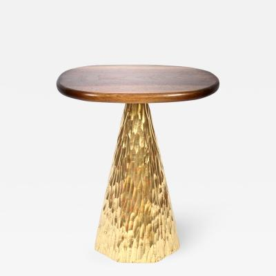 Phillip Lloyd Powell Phillip Lloyd Powell Walnut and Gold Leaf Occasional Table Circa 2007