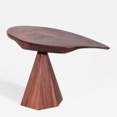 Phillip Lloyd Powell Sculpted Walnut Side Table