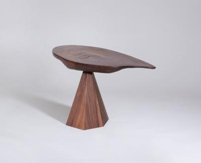 Phillip Lloyd Powell Side Table with Faceted Base