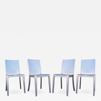 Phillipe Starck Set of Four Brushed Aluminum Hudson Chairs by Philippe Starck for Emeco