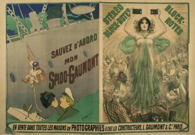 Phillippe Chapellier French Art Nouveau Camera Poster by Philippe Chapellier circa 1900