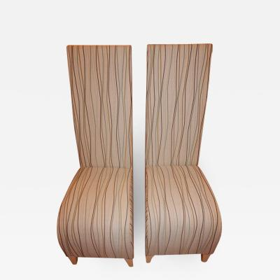 Phillippe Starck Pair of Vintage Phillipe Starck High Back Chairs