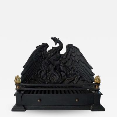 Phoenix Cast Iron and Bronze Fire Grate