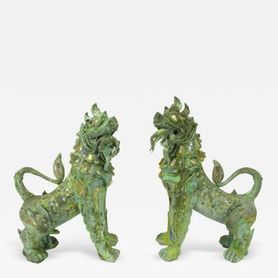 Phyllis Morris Pair Massive Phyllis Morris Bronze Dragons Holding Female Nudes