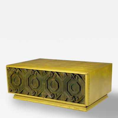 Phyllis Morris Phyllis Morris Gilt and Bronze Finish Cabinet Coffee Table