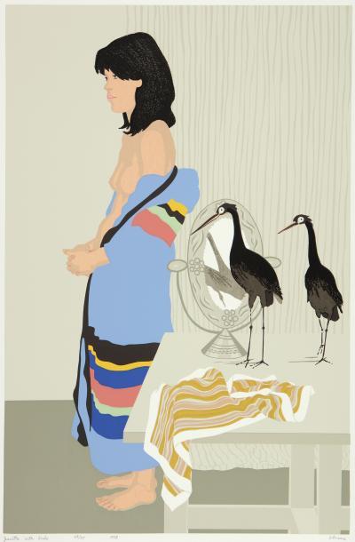 Phyllis Sloane Jeanetta with Birds