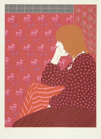 Phyllis Sloane Redhead in Rose Room