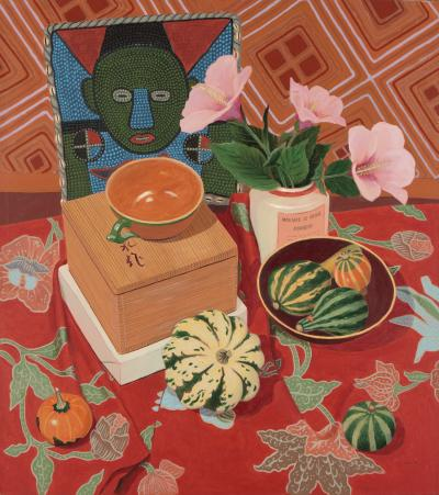 Phyllis Sloane Still Life with African Purse