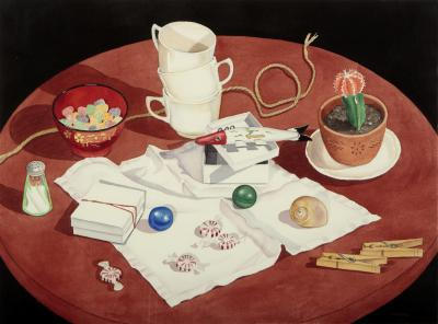 Phyllis Sloane Still Life with Fish Lure