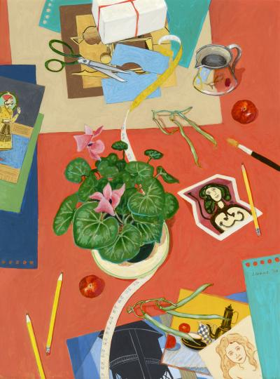 Phyllis Sloane Still Life with Folded Picasso