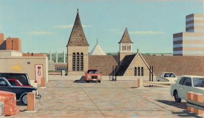 Phyllis Sloane Untitled Roof Parking and City Roofs