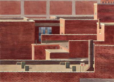 Phyllis Sloane Untitled Roofs of Brick Buildings